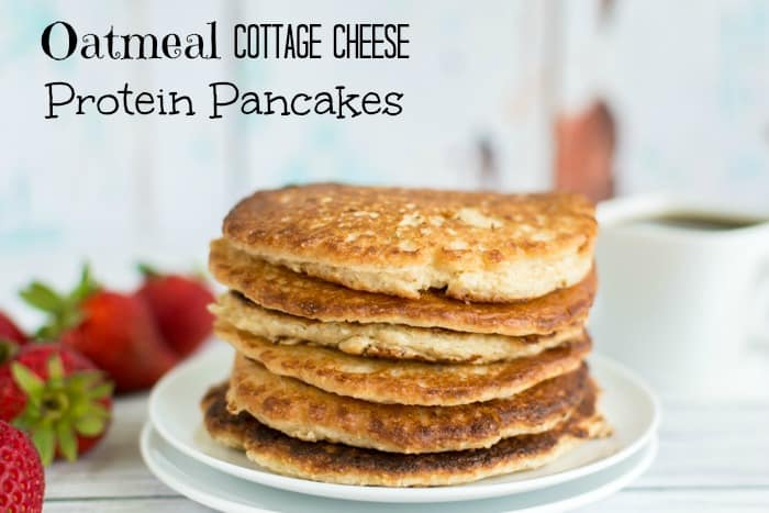 Cottage Cheese & Oatmeal Protein Pancakes