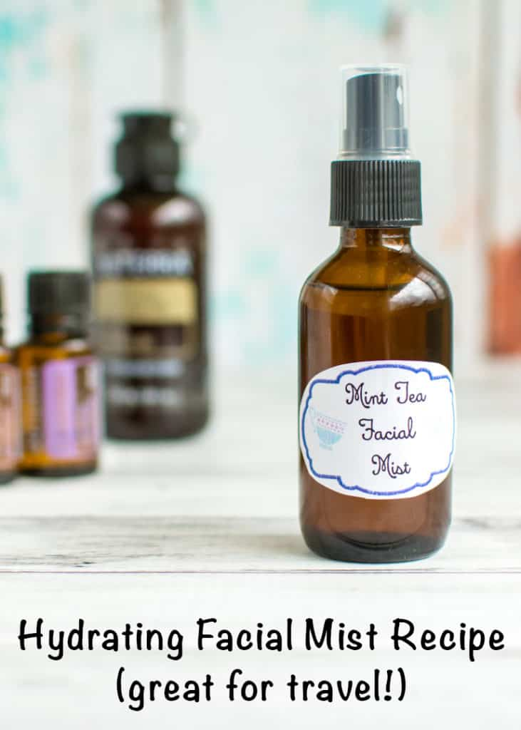 Hydrating facial mist recipe (great for travel!) You can keep your skin feeling nice and hydrated while traveling with this all-natural facial spritz!