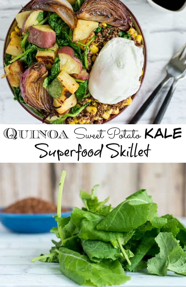 Quinoa Sweet Potato Kale Superfood Skillet Recipe