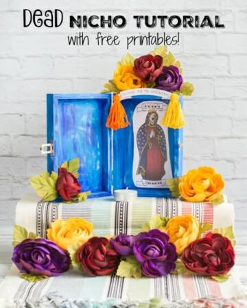 step-by-step Santa Muerte Nicho Tutorial with free printables