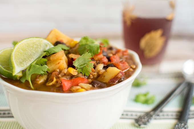 Vegatrian Sweet Potato Black Bean Chili