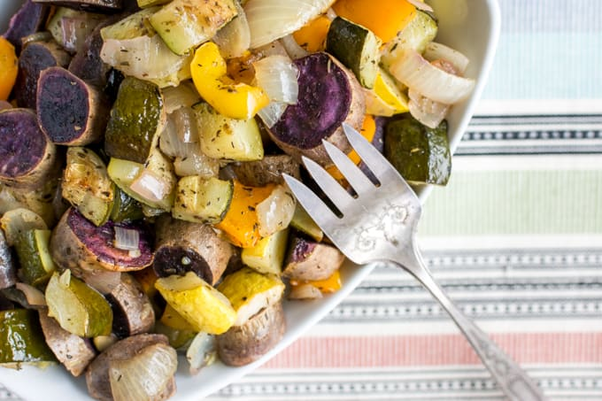Weekly Meal Prep Oven Roast Veggies