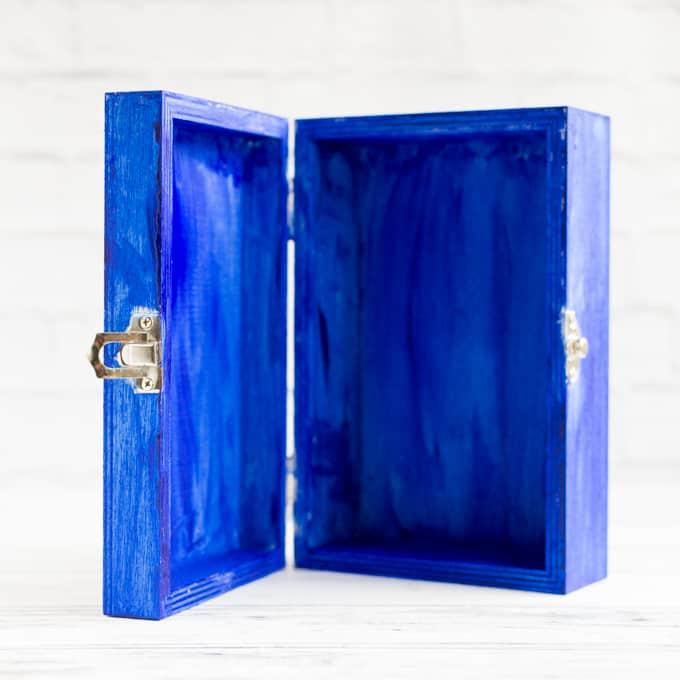 painted nicho box inside