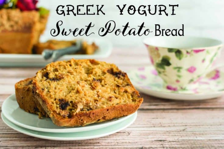Chocolate Chip Sweet Potato Bread with Greek Yogurt
