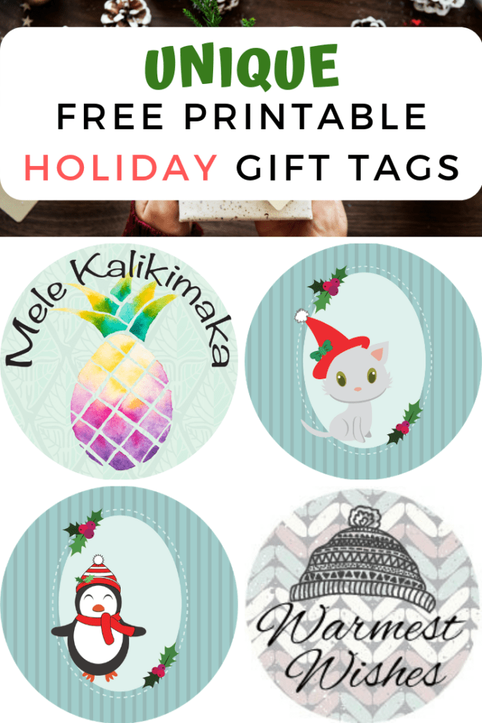 image relating to Printable Holiday Tags called Lovable Totally free Printable Holiday vacation Present Tags 2019 - The Artisan Everyday living