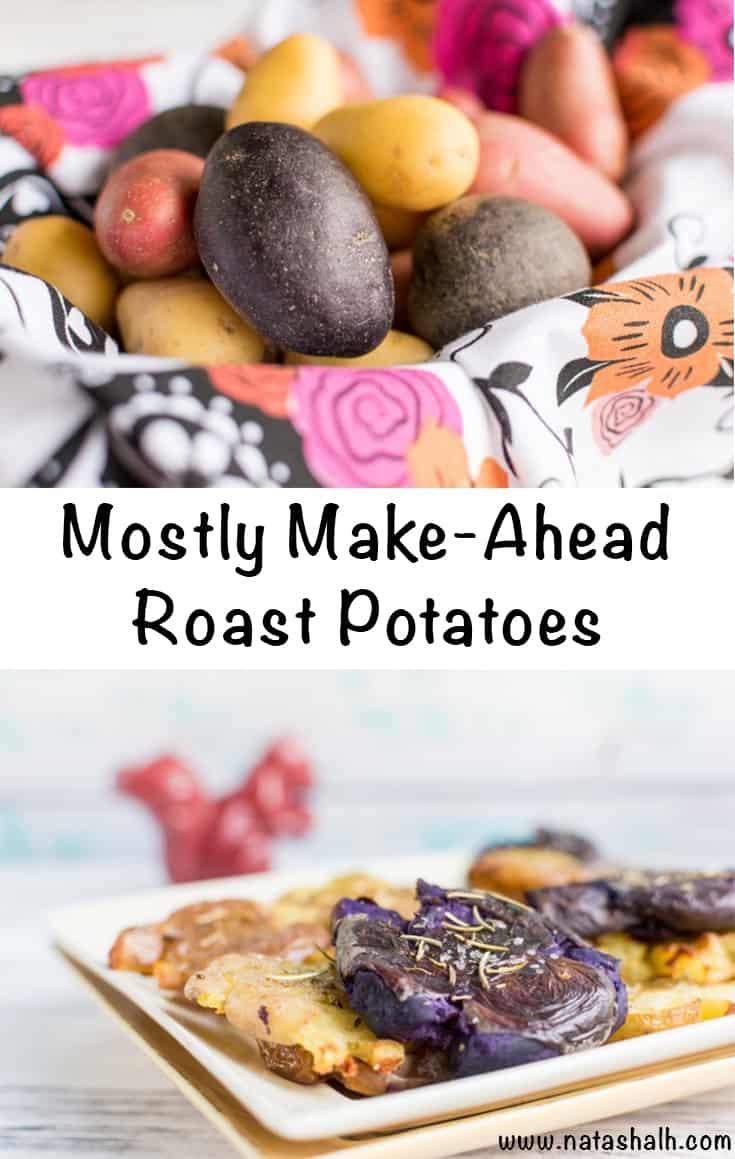 mostly make-ahead roast potatoes