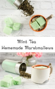 Mint Tea Homemade Marshmallows