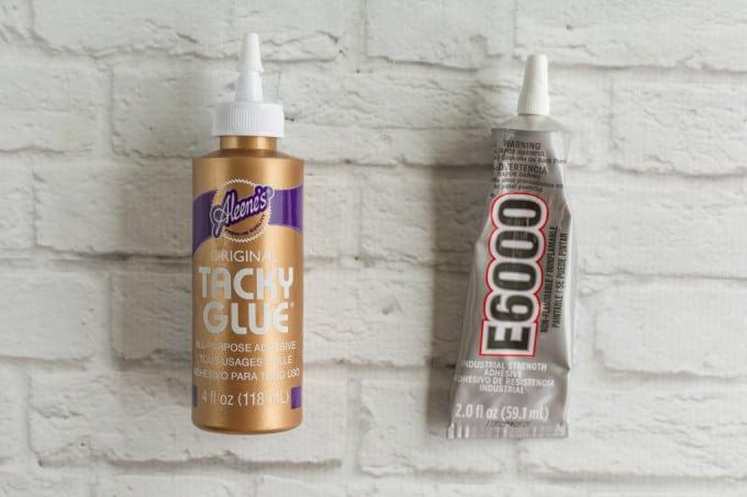 e6000 and tacky glue