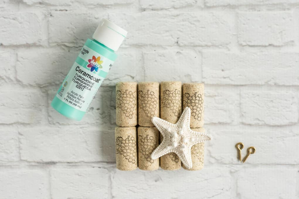supplies for beachy wine cork art