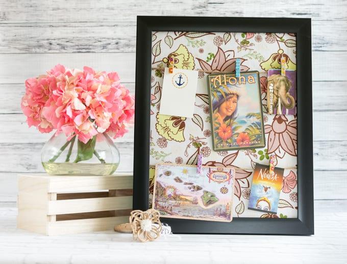 DIY picture frame memo board