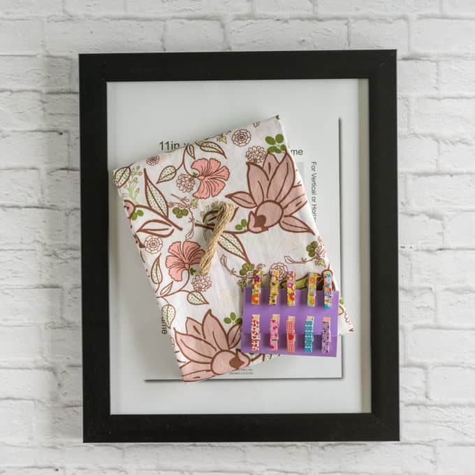materials for diy picture frame memo board