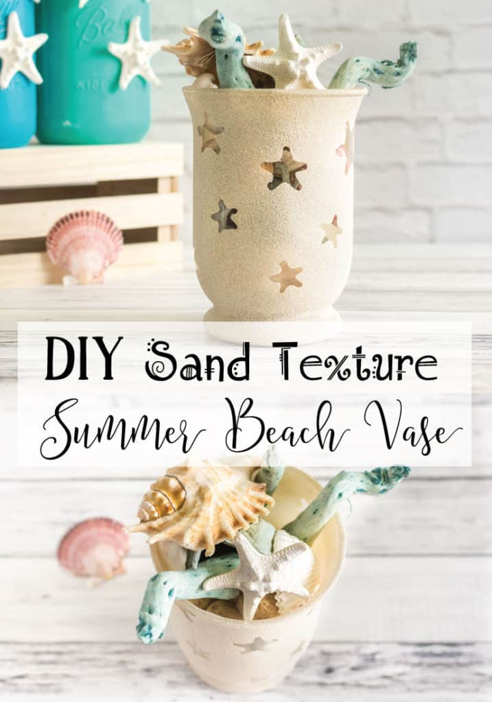 DIY Sand Texture Summer Beach Vase Tutorial
