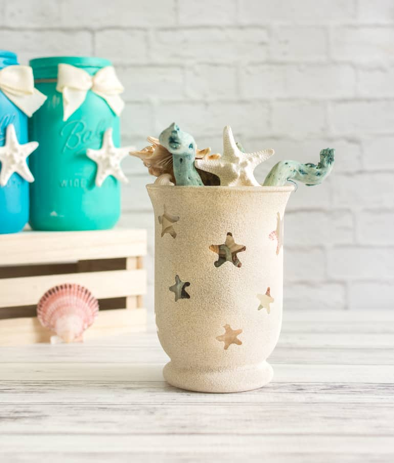 diy sandy texture summer beach vase