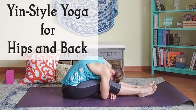 Yin yoga sequence for hips and back