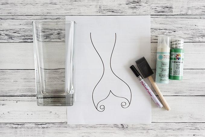 supplies for diy painted memriad vase