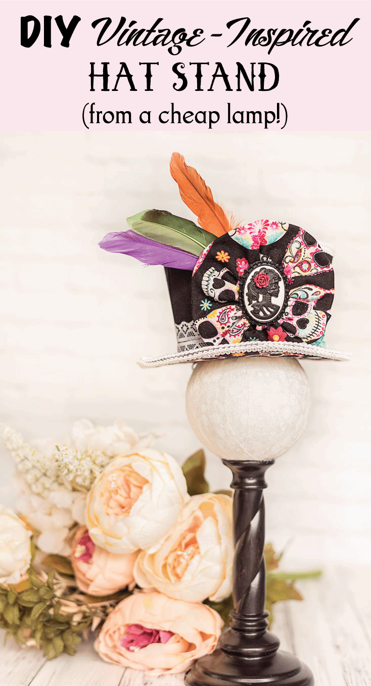 DIY Vintage-Inspired Hat Stand (from a cheap lamp!)
