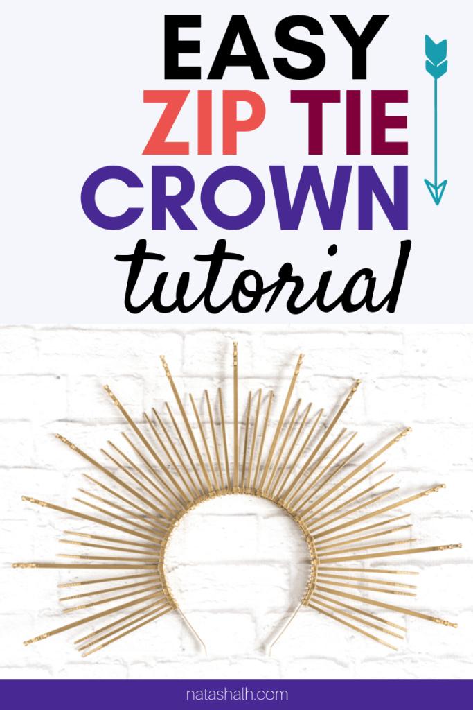 DIY zip tie crown