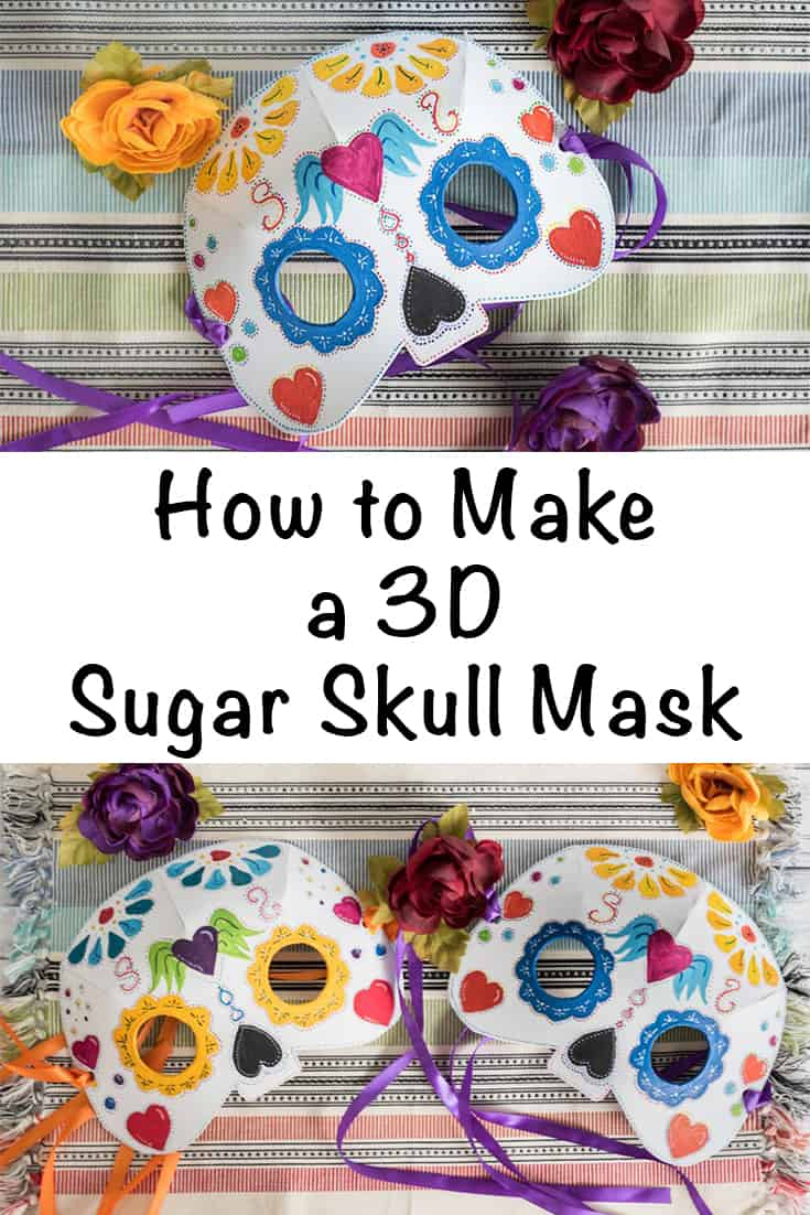 how to make a 3d sugar skull mask from craft foam