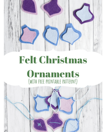 felt Christmas ornaments with free pattern