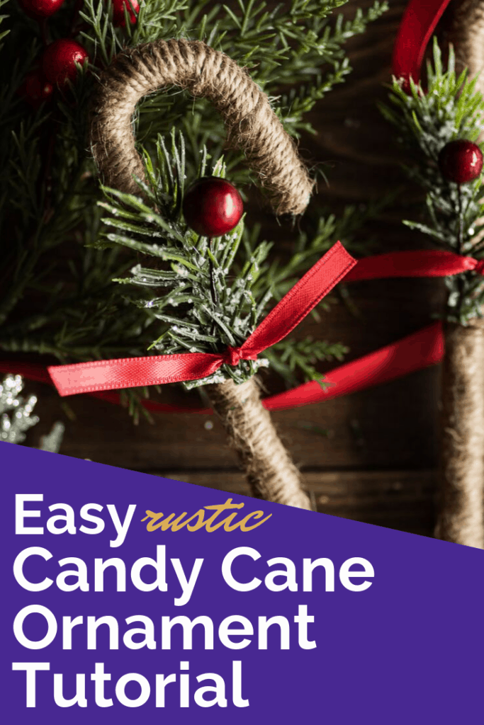 easy rustic candy cane ornaments