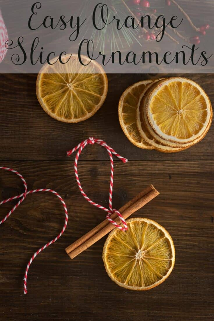 Simple Orange Slice Ornaments Tutorial