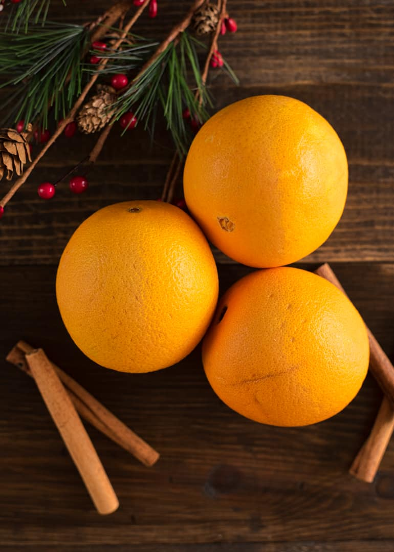 oranges for orange slice ornaments