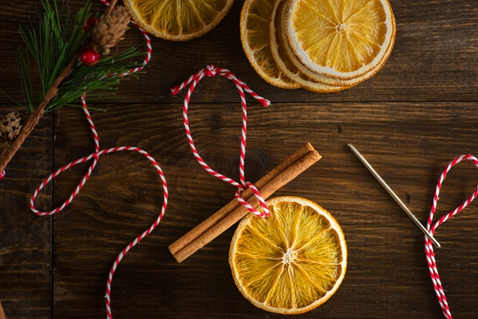 simple orange slice ornaments