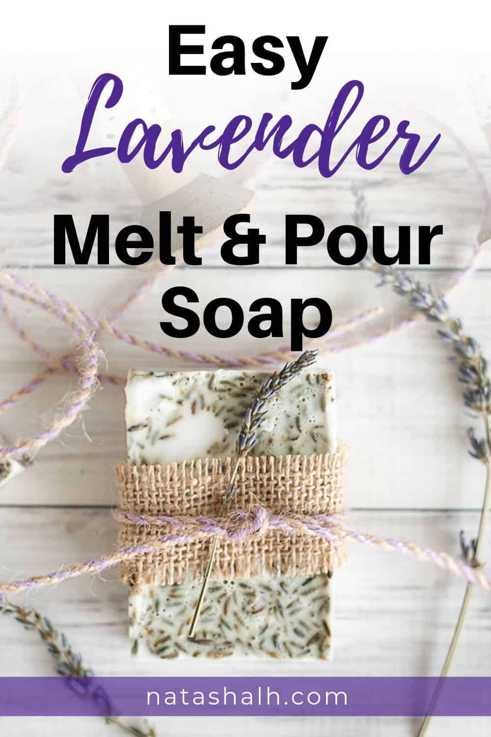 easy lavender melt and pour soap