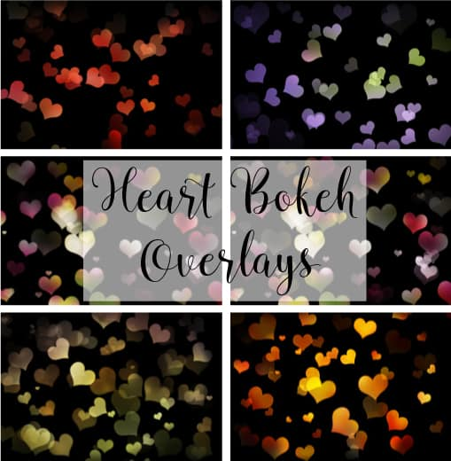Free Bokeh Heart Overlays for Valentine's Day