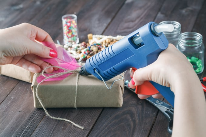 hot glue tips - use glue gun at correct distance