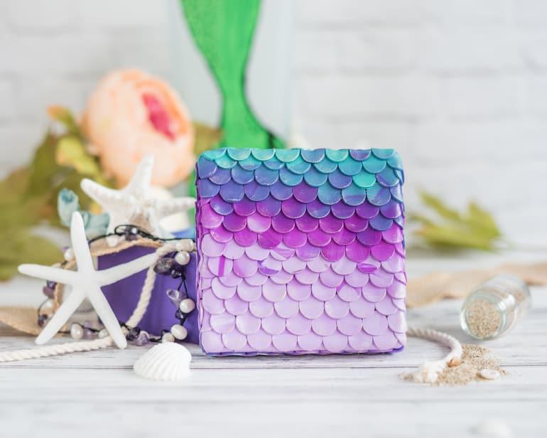 polymer clay mermaid box