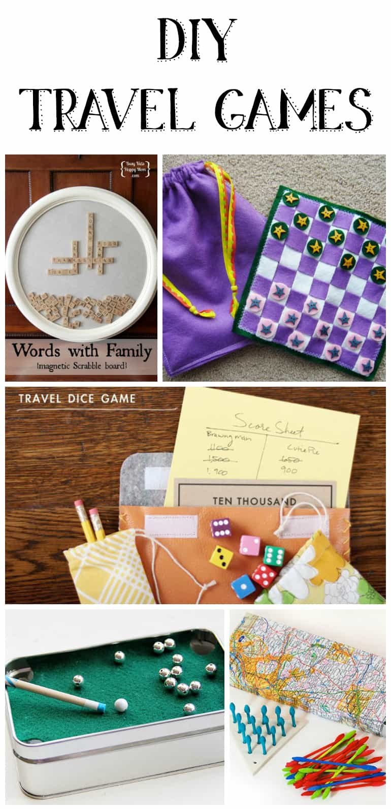 DIY Travel Games - travel games for adults