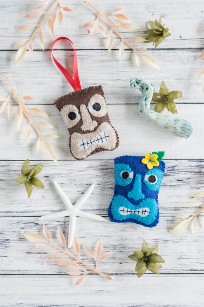 Tiki Felt Ornament & Felt Tiki Brooch Tutorial