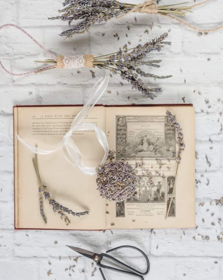 lavender crafts - make your own lavender pomander