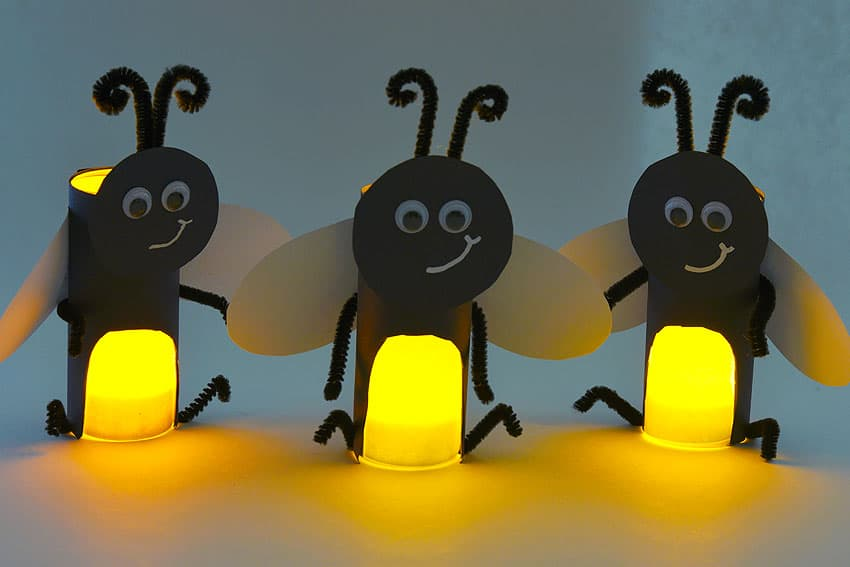 toilet paper craft fireflies