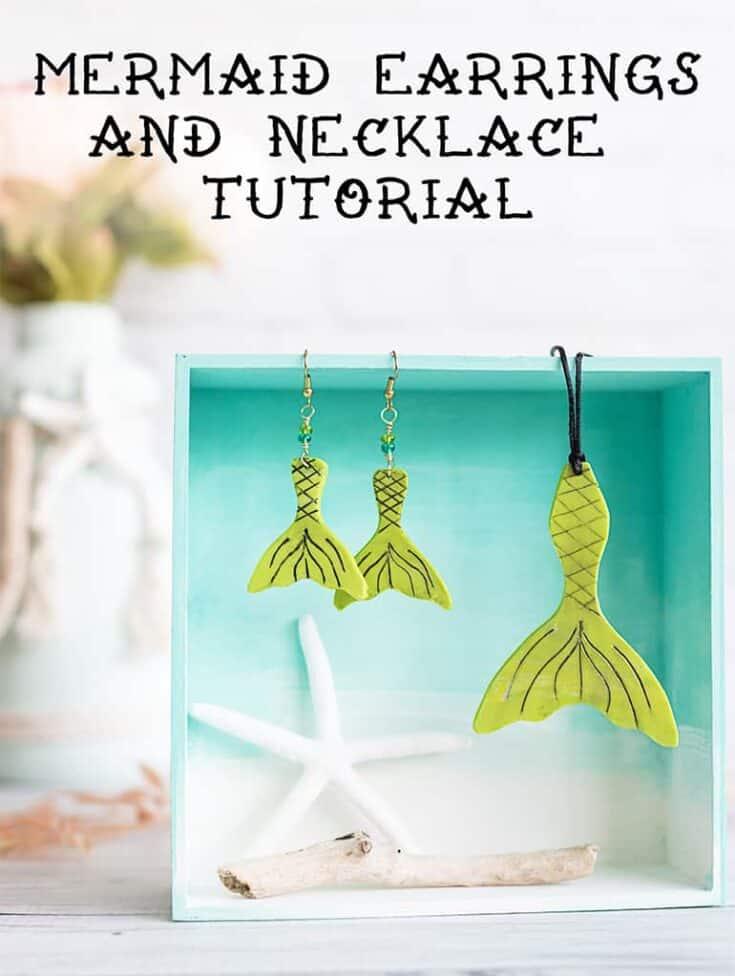 Mermaid Earring Tutorial - DIY Polymer Clay Mermaid Earrings & Necklace