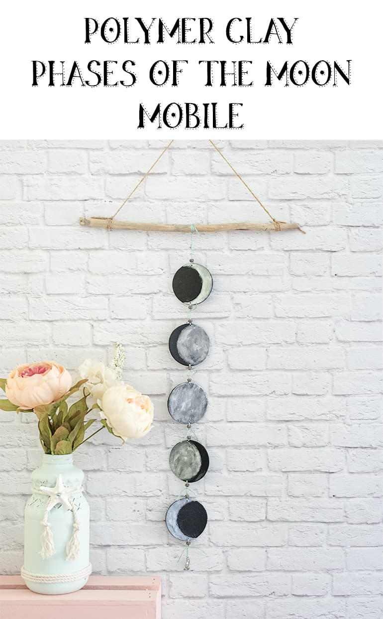 polymer clay phases of the moon mobile tutorial