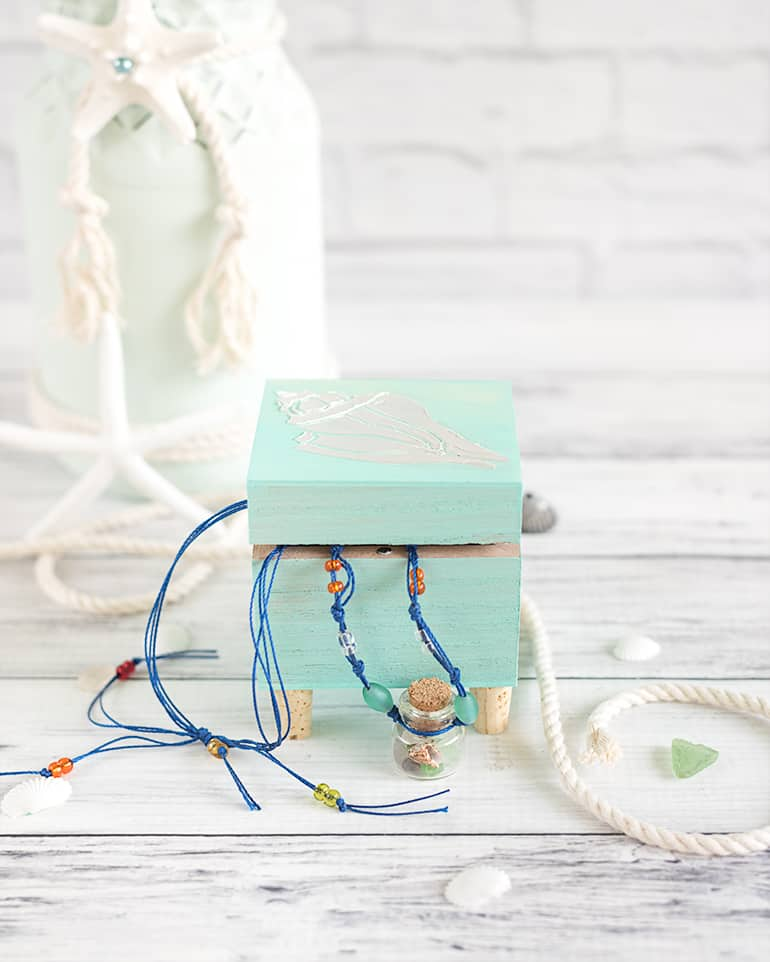 Easy DIY Footed Jewelry Box