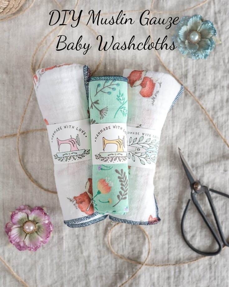 Super Soft DIY Gauze Baby Washcloths