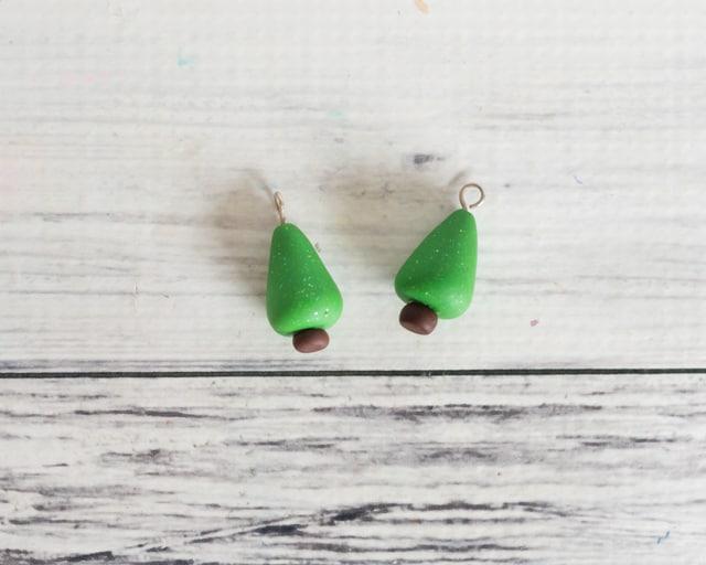 Polymer Clay Christmas Earrings.Easy Polymer Clay Christmas Tree Earrings Tutorial The