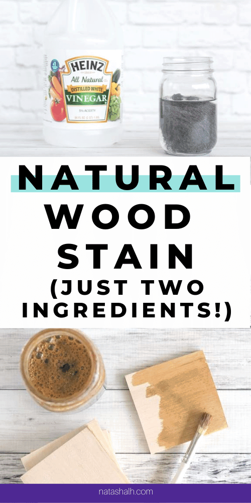 natural wood stain with two ingredients