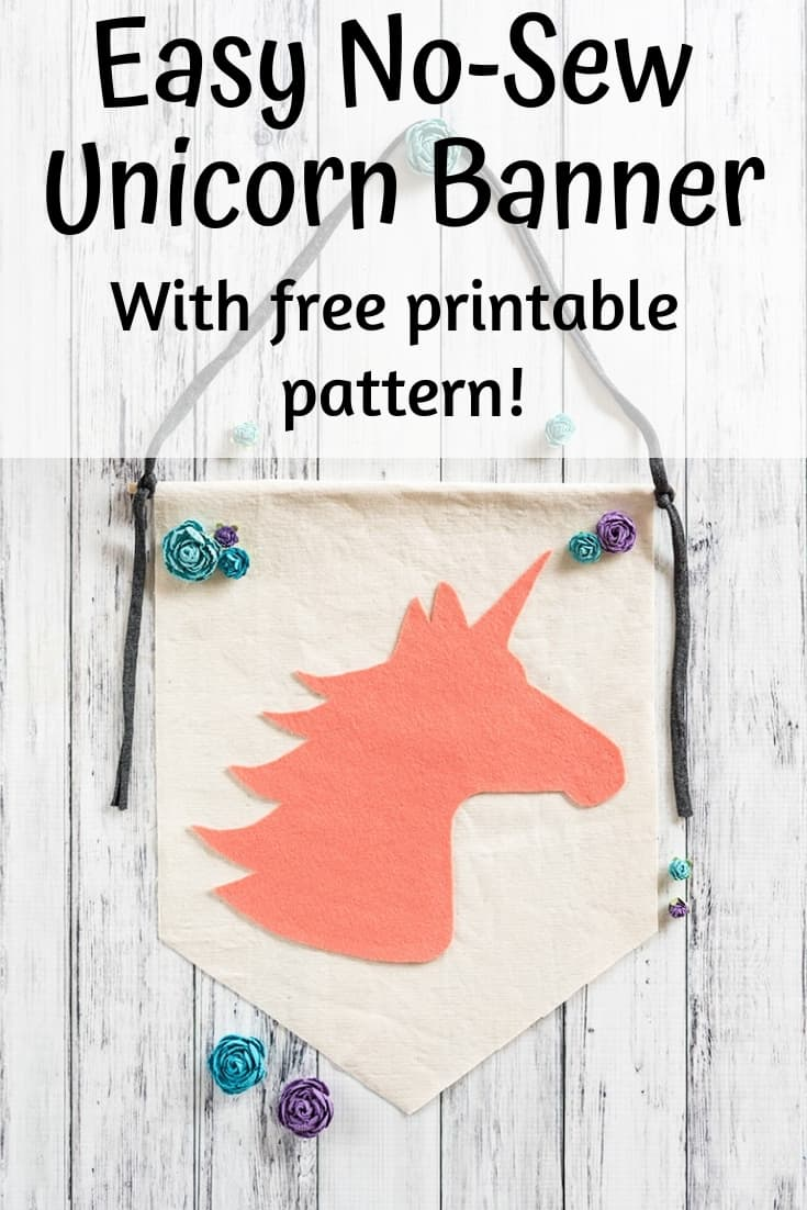 no-sew unicorn banner