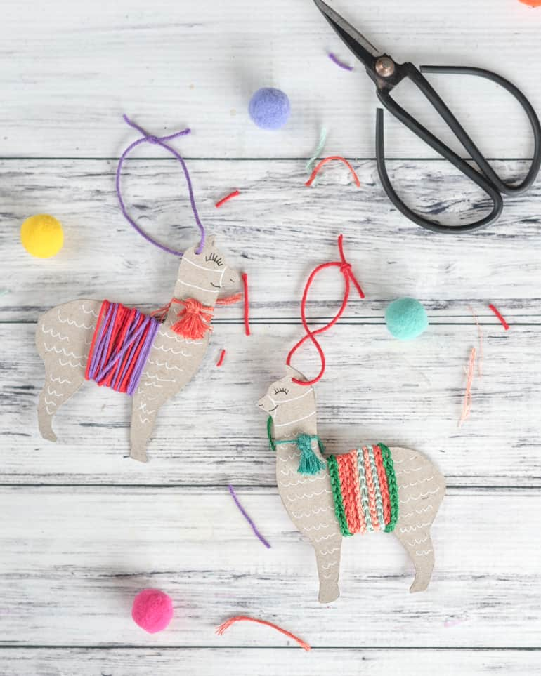 upcycled llama ornament tutorial