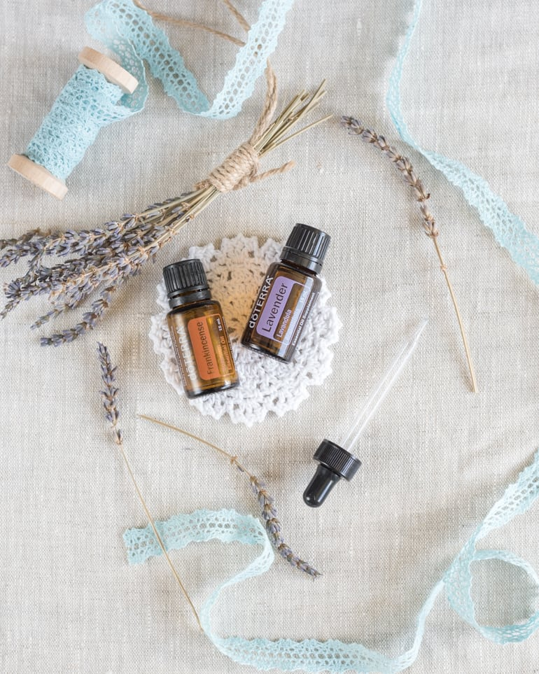 lavender and frankincense essential oils