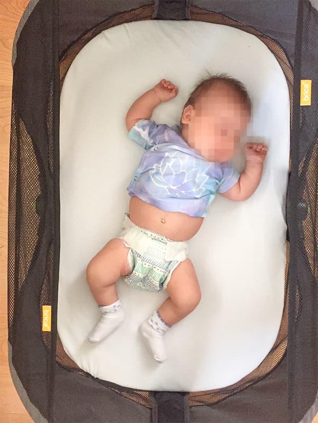 baby sleeping in honest diapers