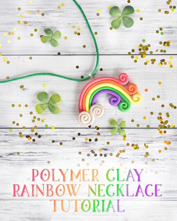 Polymer Clay Rainbow Necklace Tutorial