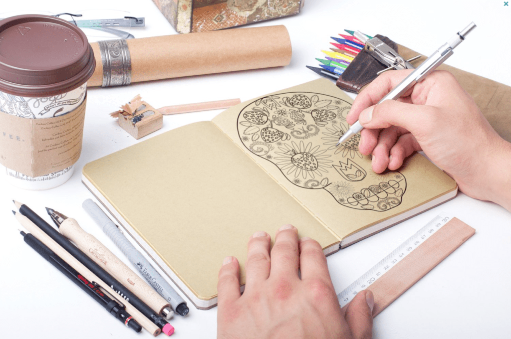 free printable strawberry sugar skull coloring page