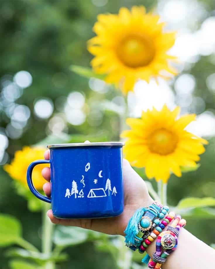DIY Enamel Camp Mugs