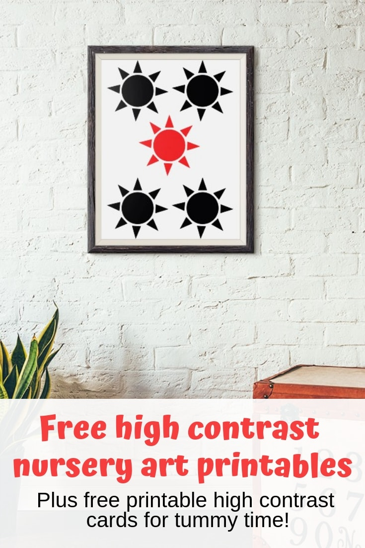 image regarding Free Printable Nursery Art named Totally free Printable Large Distinction Playing cards Nursery Artwork - The