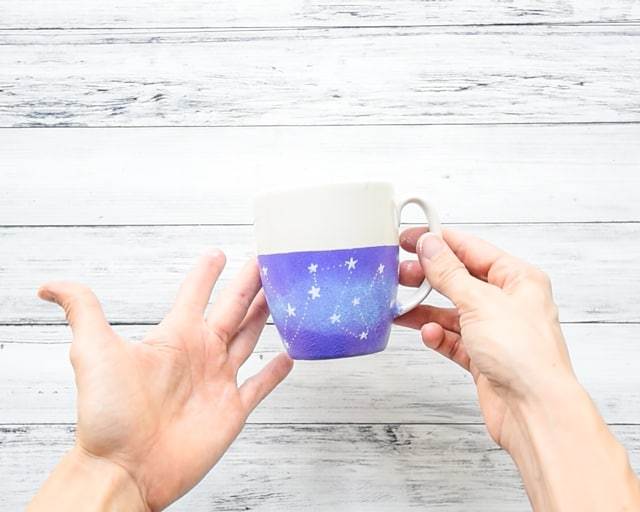 DIY dishwasher safe galaxy mug